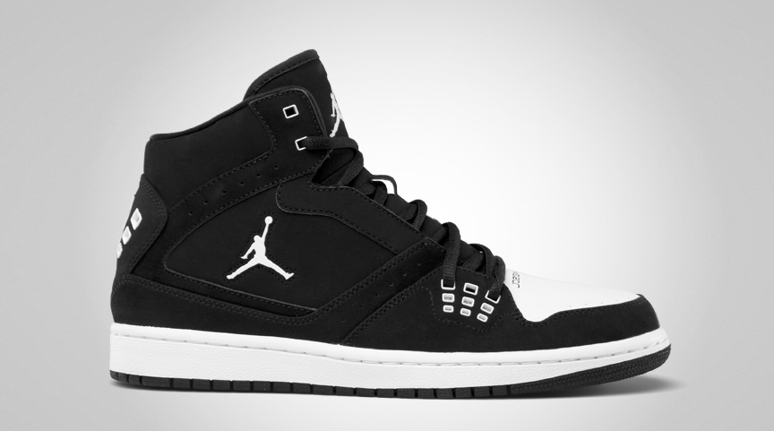 coût de réduction qualité supérieure vente Nike Air Jordan 1 Mi Jumeaux En Noir Et Blanc lozXs