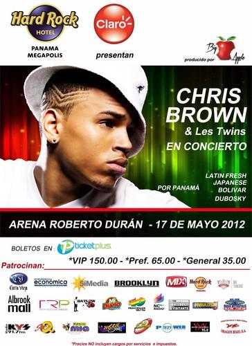 Chris brown flyer for panama concert les twins love